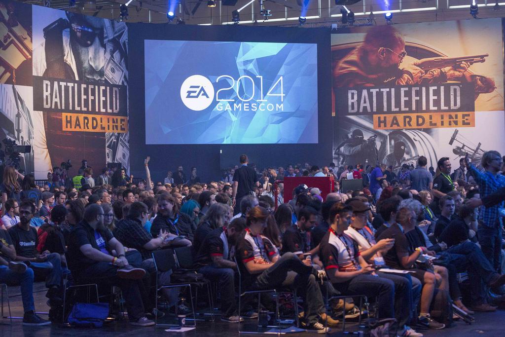 EA-Pressekonferenz auf der gamescom 2014 - Quelle: http://www.ea.com/de/gamescom/fotos/