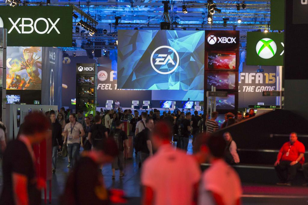 EA-Showfloor auf der gamesom 2014. Quelle: http://www.ea.com/de/gamescom