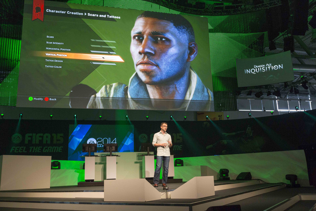 EA-Pressekonferenz zu Dragon Age: Inquisition - Quelle: http://www.ea.com/gamescom/photos