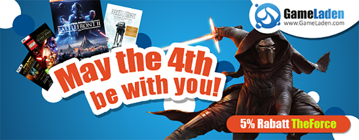 May the 4th be with you – 5% Rabatt zum Star-Wars-Tag!